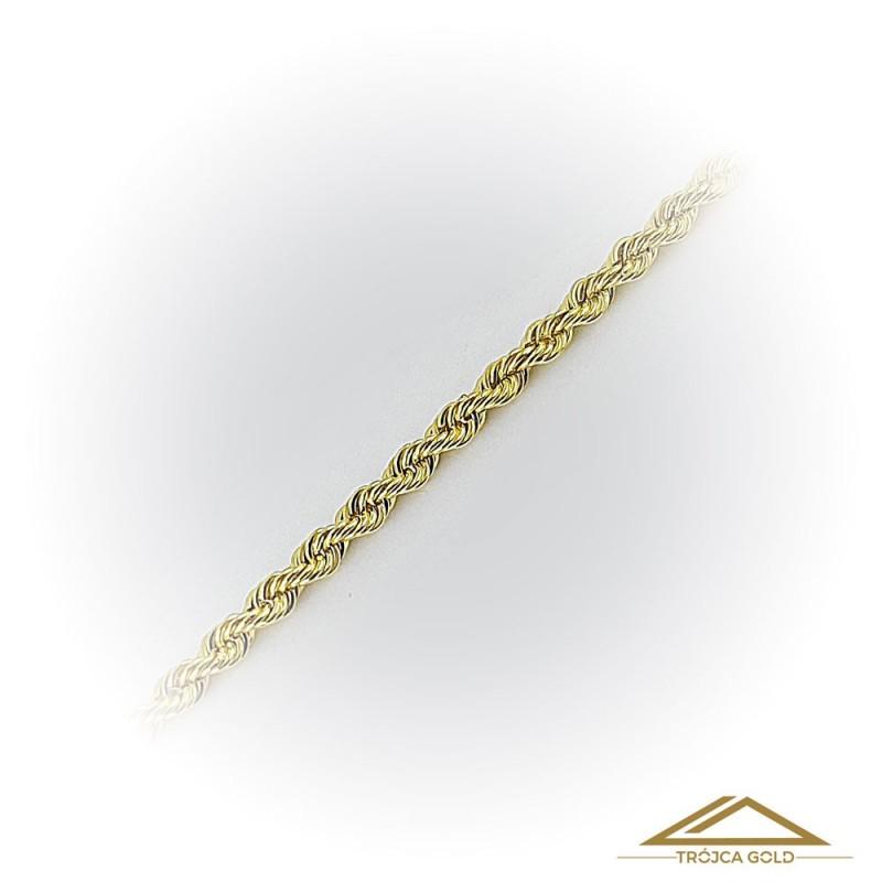 Łańcuszek Kordel, Kręcony, delikatny łańcuszek o dł. 45cm