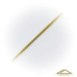 Łańcuszek Lisi ogon, Pleciony, splatany złoty o dł. 42cm
