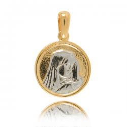 Okrągły Medalik Z Białego I...