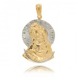 Medalik Z Białego I Żółtego...