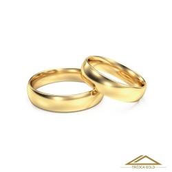 Cena za 1 g. Obrączki ślubne, złoto 14k, pr. 585 klasyczne