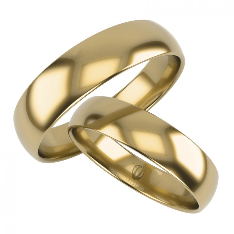 Złote Obrączki Ślubne, Klasyczne pr. 585,14k, Model K23