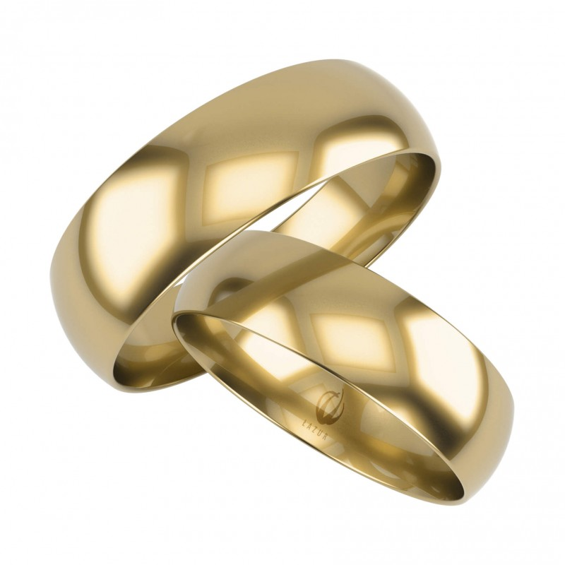 Złote Obrączki Ślubne, Klasyczne pr. 585,14k, Model K24