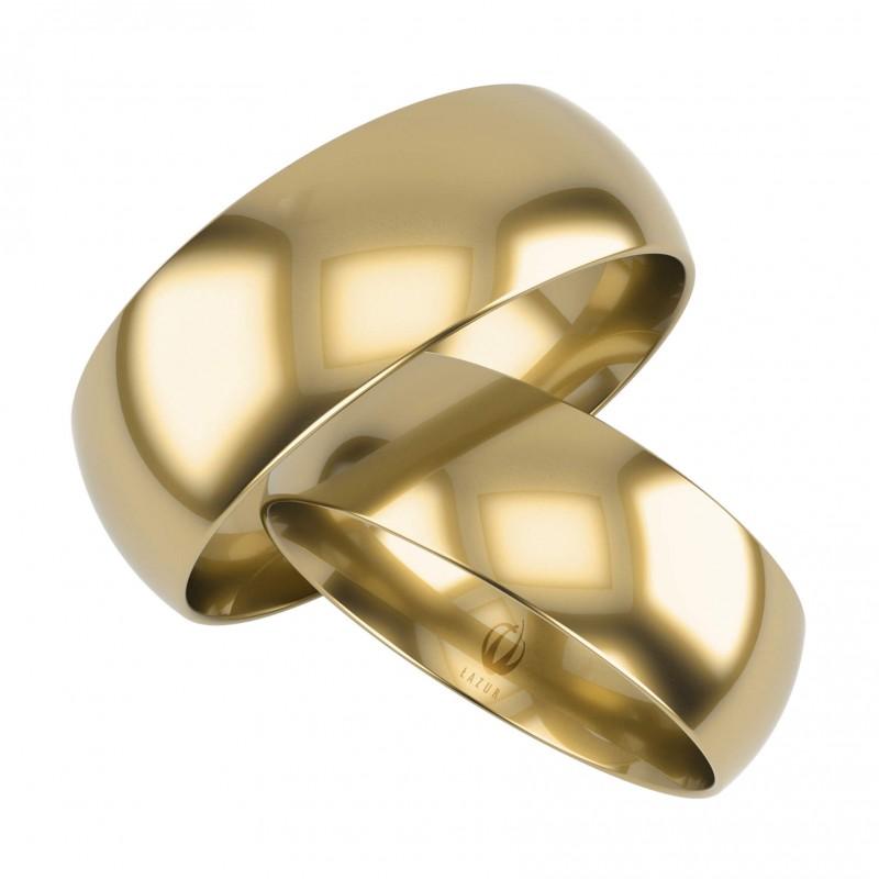 Złote Obrączki Ślubne, Klasyczne pr. 585,14k, Model K25