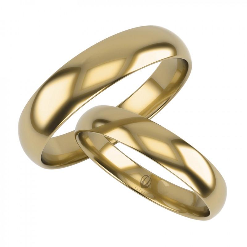 Złote Obrączki Ślubne, Klasyczne pr. 585,14k, Model K36