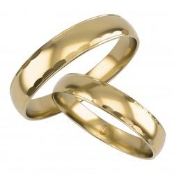 Złote Obrączki Ślubne, Zdobione pr. 585,14k, Model L12