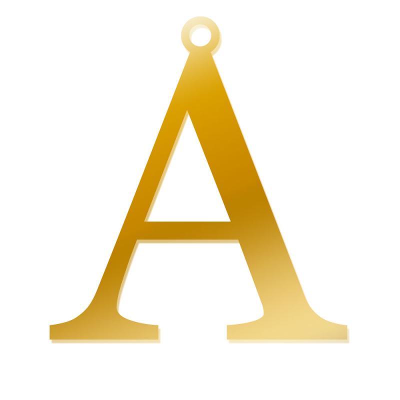 Literka A, Zawieszka wykonana ze złota pr. 585